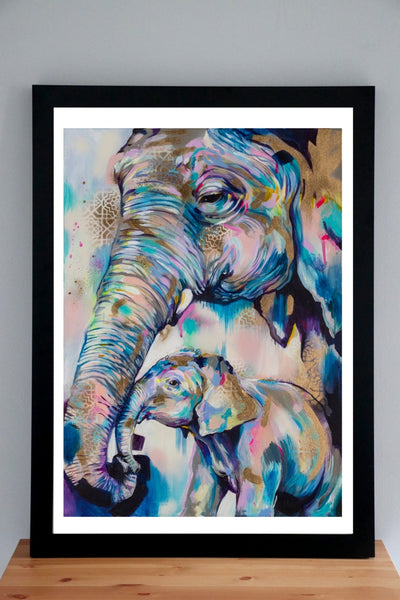 Hold On - A1 deluxe framed print - Sian Storey Art