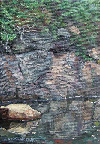 Ellershouse Brook (oil on canvas 5 x 7 in. framed)