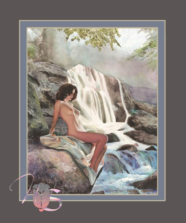 By the Falls - Poster Print