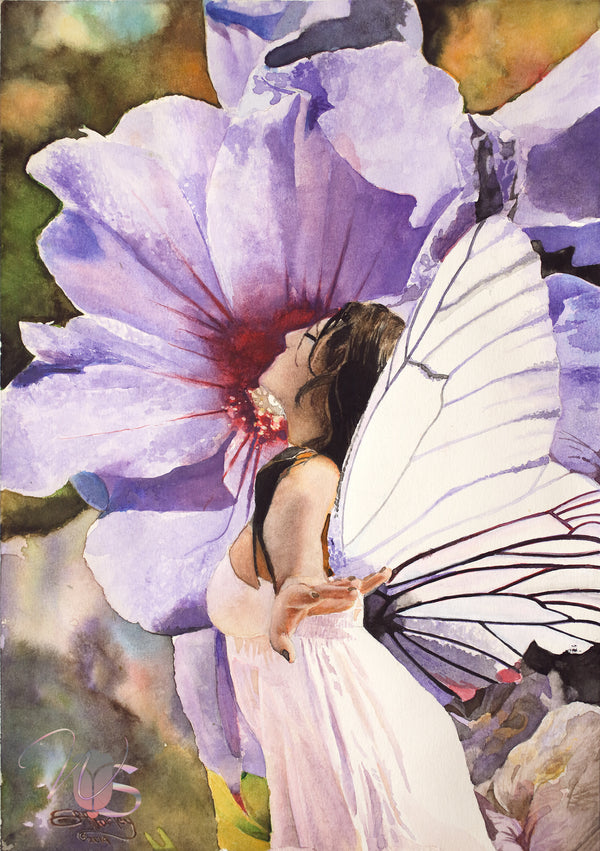 """Scented Fairy"" - Original Watercolor"