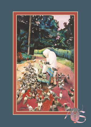 The Bird Lady of Golden Gate Park - Poster Print
