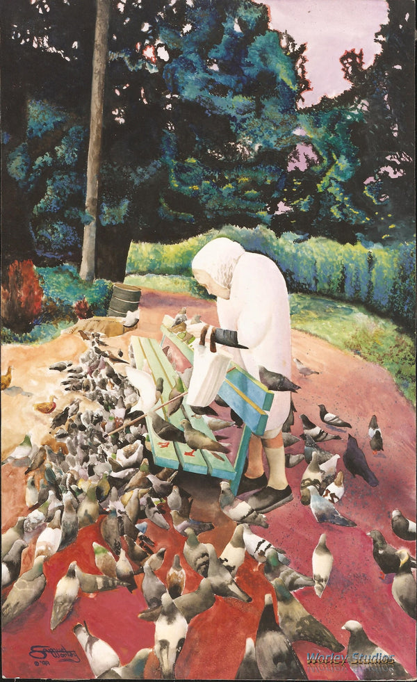 The Bird Lady of Golden Gate Park - Limited Edition Print - Worley Studios