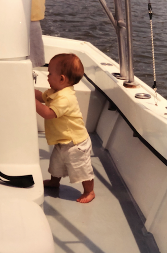Baby Walking on a Boat