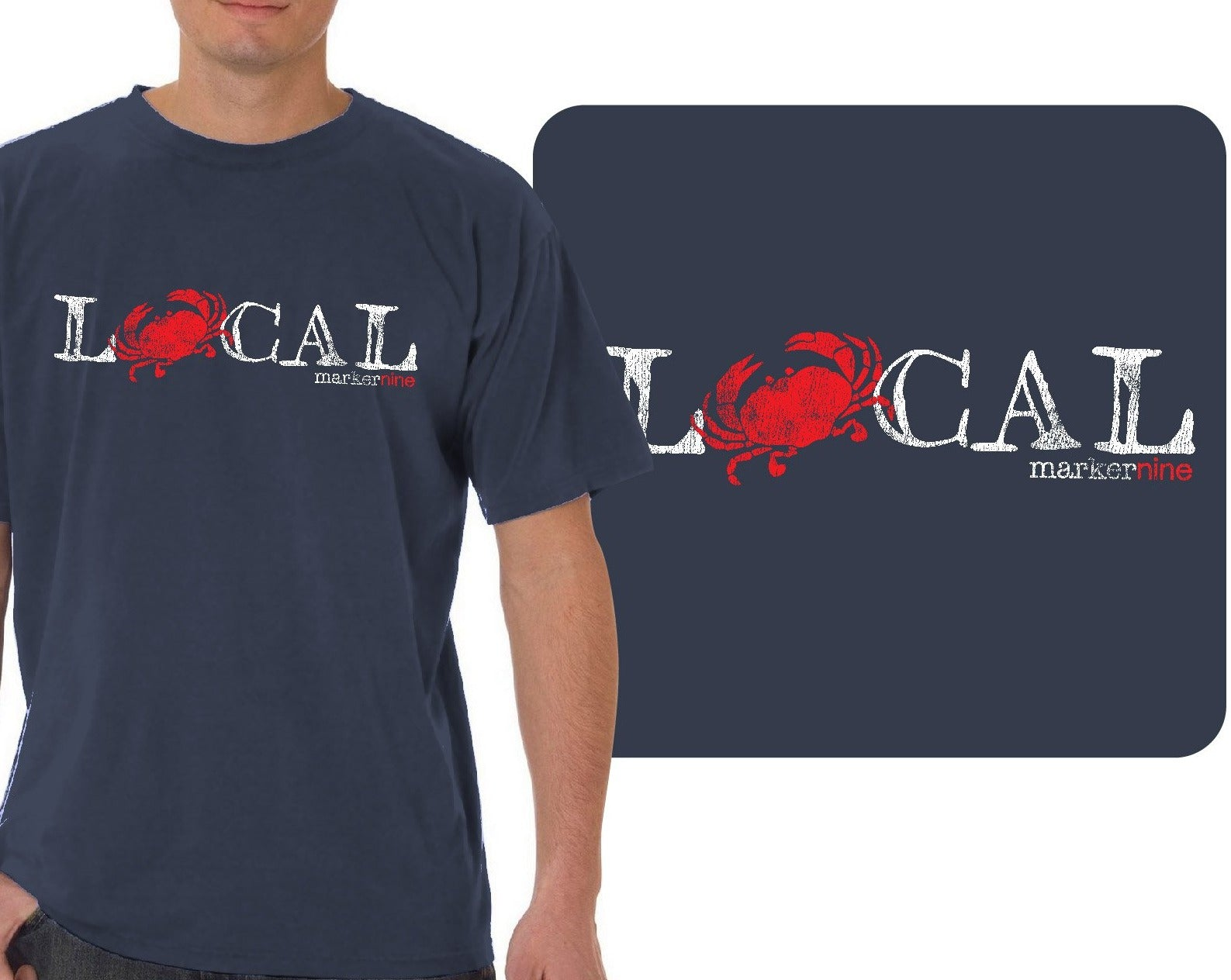 Crab Eat Local Long Sleeve T-Shirt