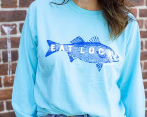 Fish Eat Local Long Sleeve T-Shirt