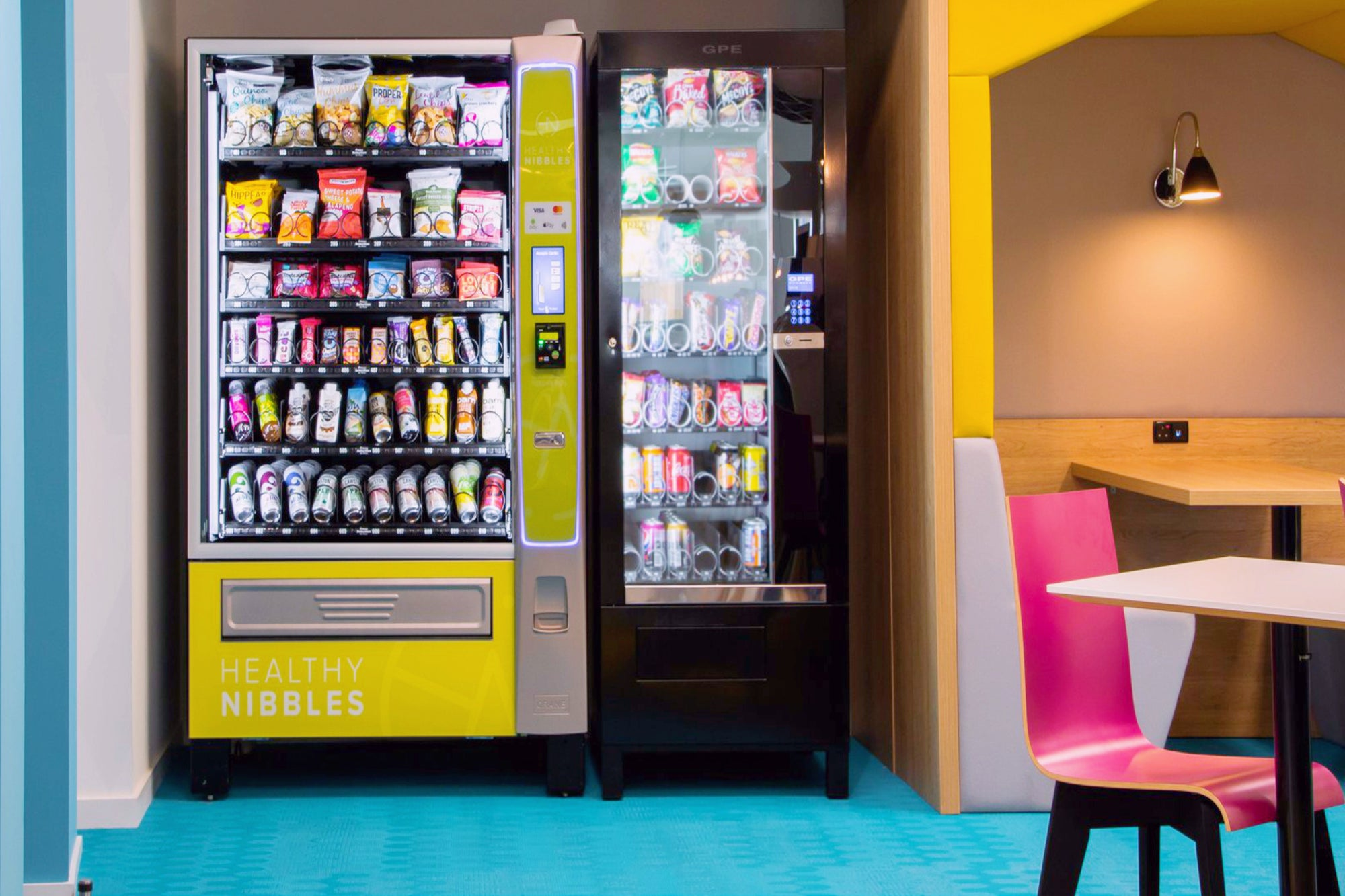 Healthy vending machines for workplaces