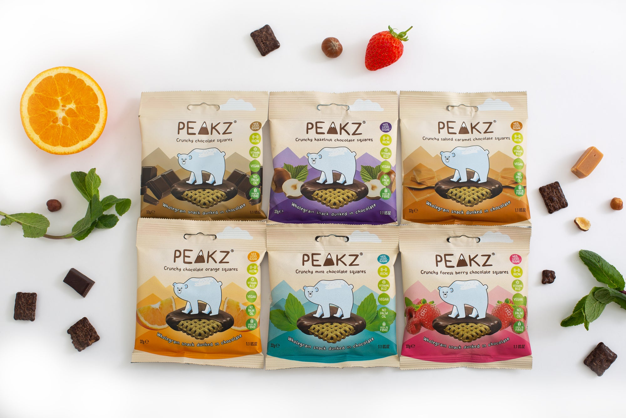 Peakz healthy vegan treats available in our healthy snack boxes