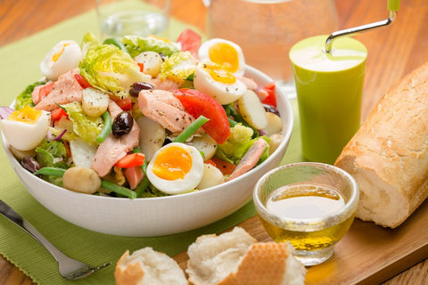Poached Trout Salad Nicoise