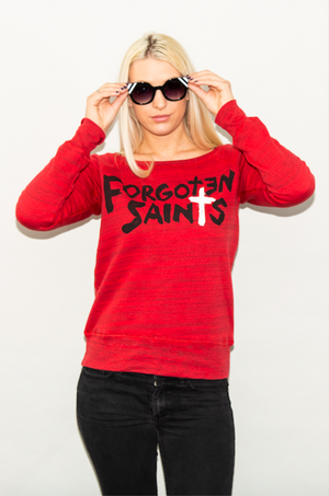 "x FSLA  Original ""Jerks"" Fleece Off the Shoulder Top"