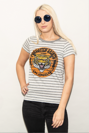 "FSLA ""Tiger '95"" Striped Womens Tee"
