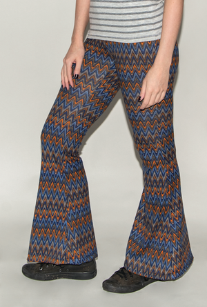 "FSLA ""Kosmic Blues"" High Waisted Flared Bellbottoms"