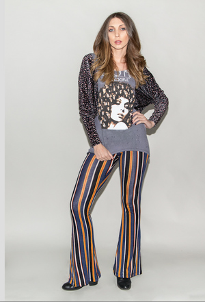 "FSLA ""Piccadilly Stripes"" High Waisted Flared Bellbottoms"