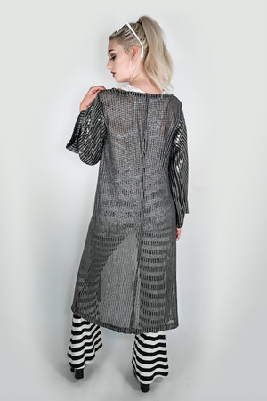 "Forgotten Saints LA ""Distortion"" One of a kind Long Sequined Kimono"
