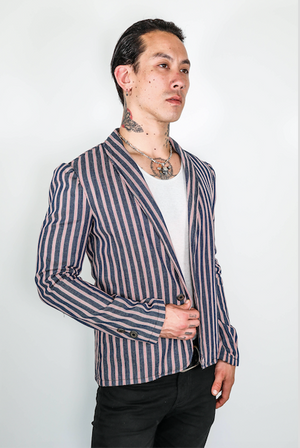 "Forgotten Saints LA ""Dead End Street"" Mod cut striped Blazer"