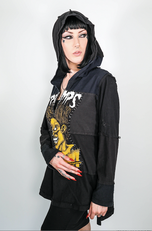 "Forgotten Saints LA ""Cramps"" Oversized One of a Kind hooded Tunic"