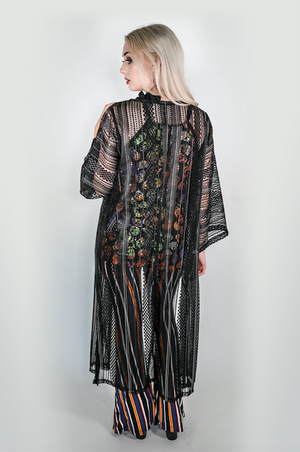 "Forgotten Saints LA ""Get Down and Get with It"" Sheer One of a kind Kimono"