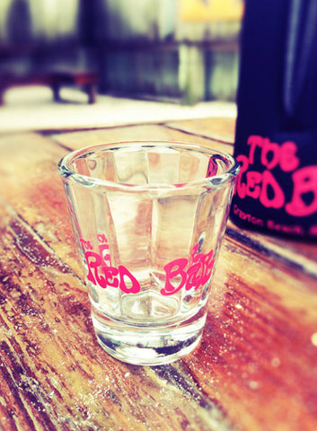 Red Bar Shot Glass