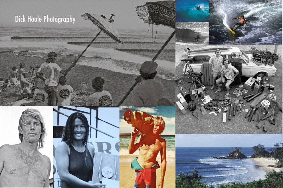 Dick Hoole 35mm film collage Hodaddy vintage surfing imagery
