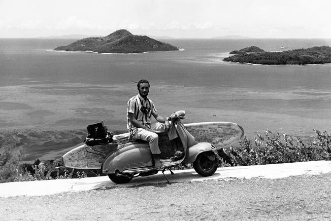Ron Perrott self portrait Seycheles Africa late 1960s Hodaddy surfing archives