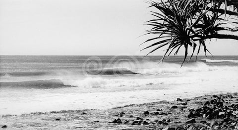 Lennox Head surfing empty lineup