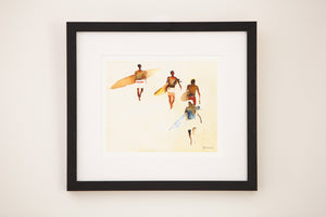 Surfers Watercolour - small format (Signed)