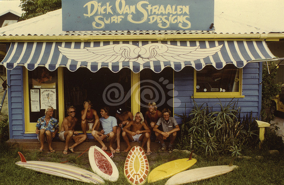 1970s surf shop Dick Van Straalen