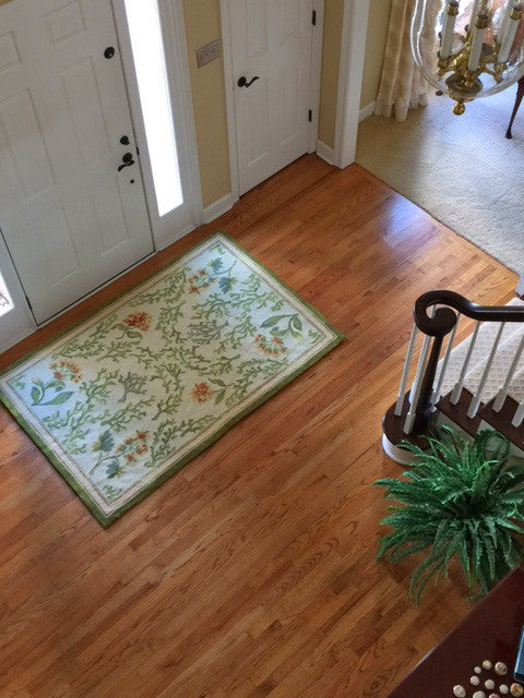 Flowing Coral CG Needlepoint Rug