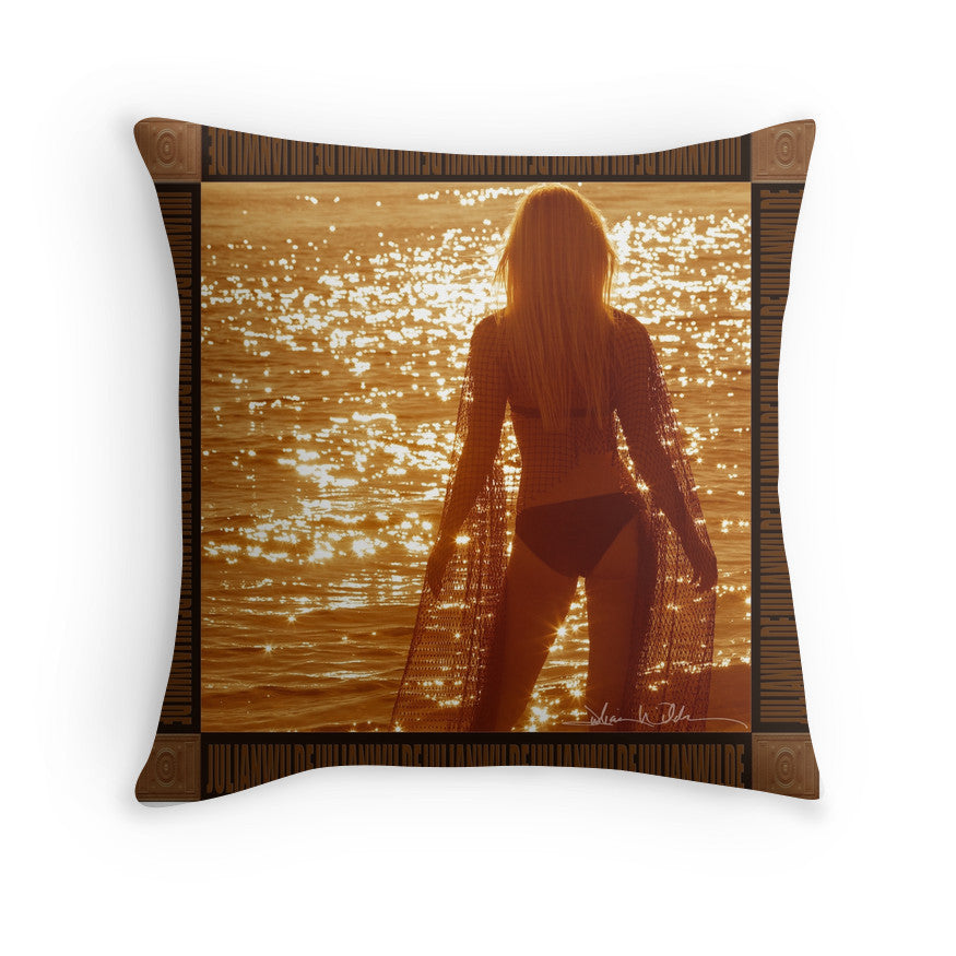 Summer Blonde Throw Pillow