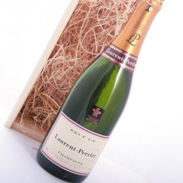 Champagne Laurent-Perrier Brut in houten kistje
