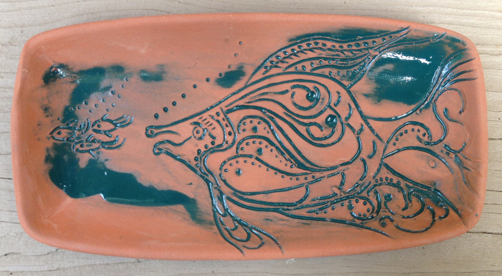 Hand carved Fish Plates