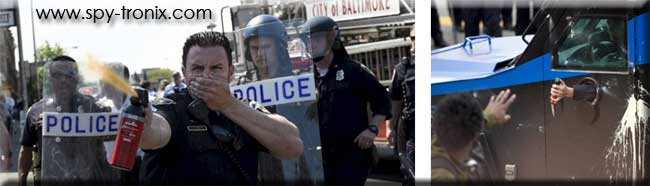 baltimore riots - rioting - pepper spray