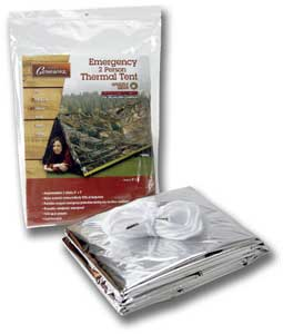 Emergency Survival Mylar Thermal Reflective Cold Weather Shelter Tube Tent - Accommodates 2 Adults - 8' X 3'- by Grizzly Gear