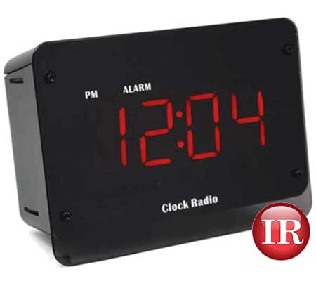 Wi-Fi clock radio hidden spy security surveillance camera