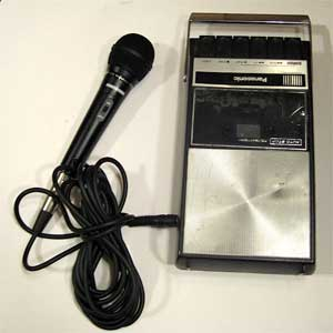 early panasonic tape cassette recorder with microphone