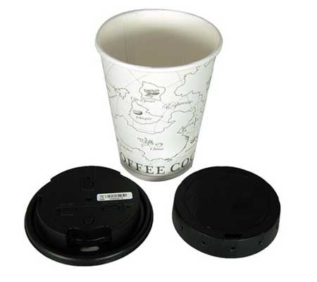 HD Coffee Cup Lid Hidden Camera - Covert DVR