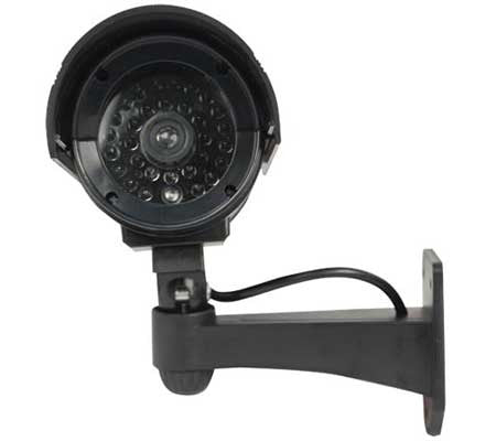 Bullet Style Fake Infrared Security Camera (Black)
