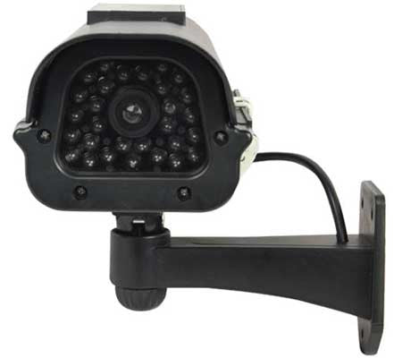 fake dummy security camera - solar powered surveillance