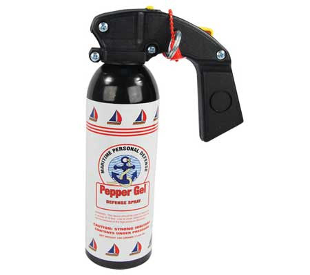 mace pepper gell self defense pepper spray for boats - high wind - marinas - no blowback