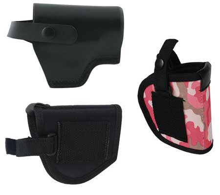 mace pepper spray gun holsters - black - camo - nylon - pink camo