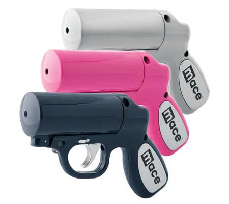 Mace Pepper Spray Guns - Long Distance + LED Light