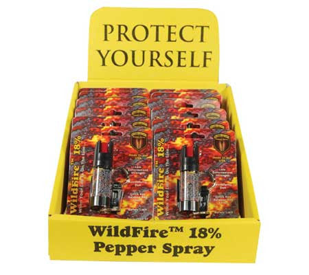 Wholesale 18% Pepper Spray - 12 Keychains