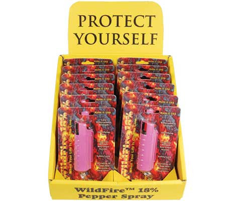 Wholesale 18% Pepper Spray - 12 Hard Case Pink