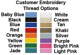 Thread colors for custom nylon embroidered dog collar