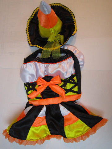 Candy Corn Witch Dog Costume - Really Good Pets Shop - Costume -  - PuppeLove