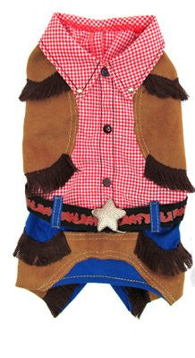 Cowboy Dog Costume - Really Good Pets Shop - Costume -  - PuppeLove