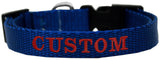 Custom and Personalized Embroidered Dog Collar - Really Good Pets Shop - Nylon Dog Collar - Extra Small / Blue - Mirage Pet Products - 3