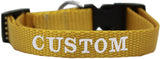 Custom and Personalized Embroidered Dog Collar - Really Good Pets Shop - Nylon Dog Collar - Extra Small / Golden Yellow - Mirage Pet Products - 4