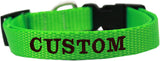 Custom and Personalized Embroidered Dog Collar - Really Good Pets Shop - Nylon Dog Collar - Extra Small / Hot Lime Green - Mirage Pet Products - 6
