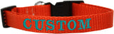 Custom and Personalized Embroidered Dog Collar - Really Good Pets Shop - Nylon Dog Collar - Extra Small / Orange - Mirage Pet Products - 10