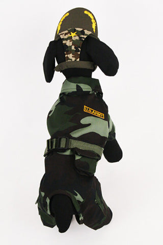 Army Uniform Dog Costume - Really Good Pets Shop - Costume -  - PuppeLove